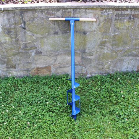 Erdbohrer Erdlochbohrer Handerdbohrer Pfahlbohrer 130 mm 13 cm Messer Holz-Griff