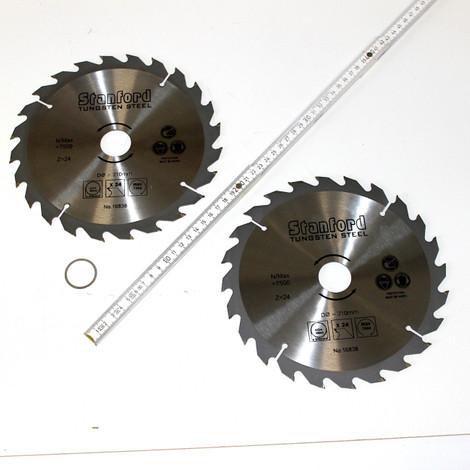 2 Stück HM Hartmetall Kreissägeblatt Sägeblatt 210 x 30/25/22/20/16 x 24 Z Zähne