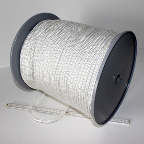 Seil  8 mm 200 m lang Flechtleine Flechtschnur Schnur Tau PES geflochten 1078 kg