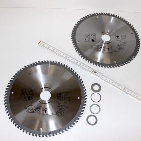 2 Stück Alu Aluminium HM Widia Sägeblatt Kreissägeblatt 230 x 30/25/22/16 x 80 Z