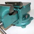 Schraubstock 125 mm breit Spannweite 125 mm mit Amboss Drehteller drehbar Bild 6