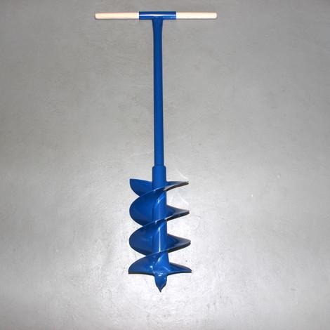 Erdbohrer Erdlochbohrer Handerdbohrer Pfahlbohrer 200 mm 20 cm 4 fach Holzgriff