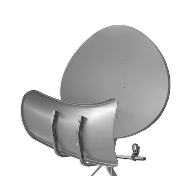 Wavefrontier T90 Satellitenantenne Stahl Anthrazit