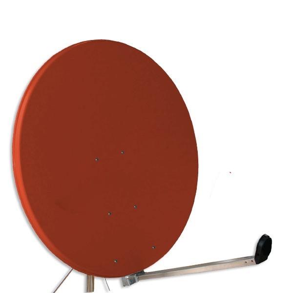 Gibertini Sat Antenne Spiegel 100 cm Ziegelrot Schüssel Satellitenschüssel