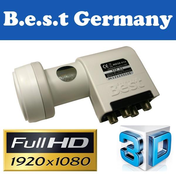 LNB Quattro 0,1 dB Best-Germany HDTV HD 3D Digital tauglich