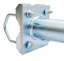 PremiumX 25cm Balkonausleger Stahl Geländerhalter SAT Antenne Balkon-Mast-Halter Ausleger L-Form – Bild 4