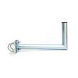 PremiumX 25cm Balkonhalterung / Geländerhalterung / Ausleger mit Schellen Zahnschellen Stahl für Sat Schüssel Spiegel Antenne Satellitenschüssel 001
