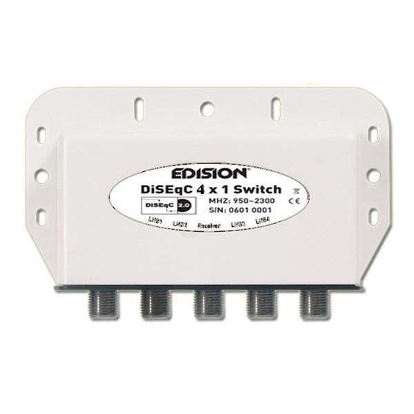 DiseqC-Schalter 4/1 Edision mit Wetterschutzgehäuse HDTV fähig NEU