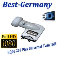 LNB Twin 0,1 dB Best-Germany HD-Ready HQDL 202 + Plus / HD3D 202