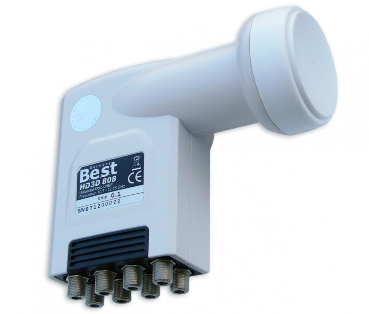 LNB Octo Best Germany 0,1 dB HDTV HD Ready HQDL 808 FullHD 1080p 3D NEU