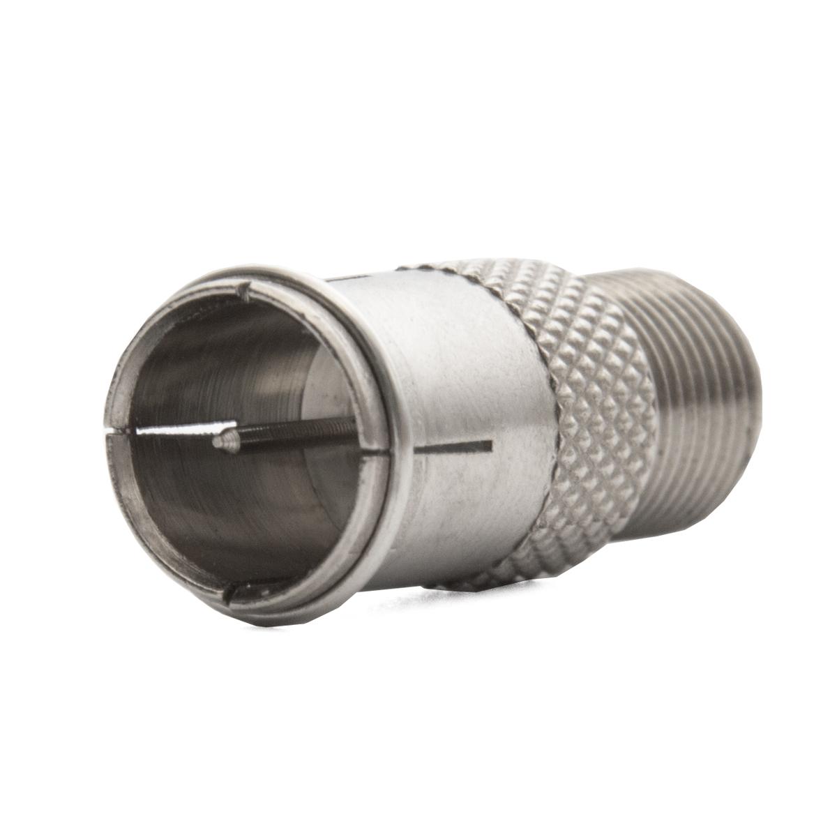 SAT F-Quick-Stecker auf F-Buchse F-Schnellstecker Schnellverbinder Quickverbinder