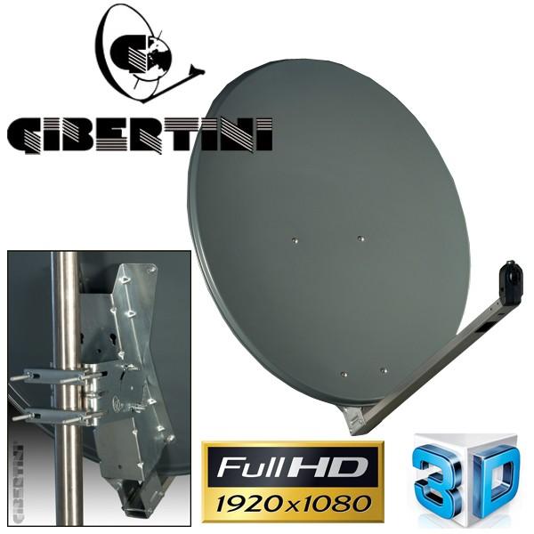Gibertini OP 75 L Satellitenantenne 75 cm Aluminium Anthrazit