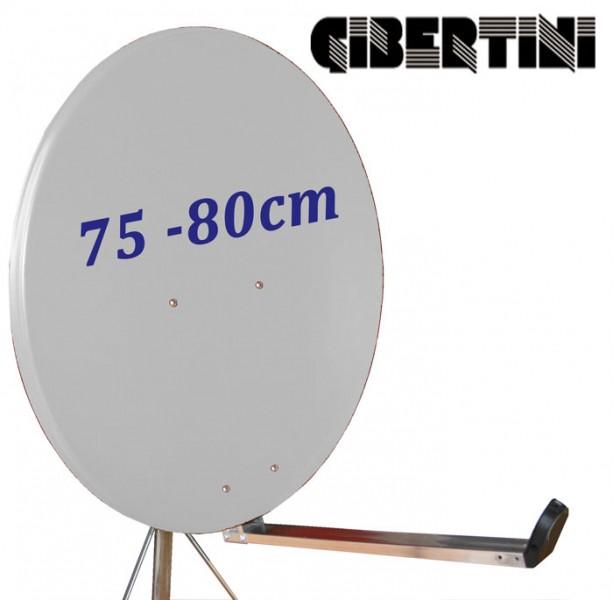 Gibertini OP 75 L Satellitenantenne 75 cm Aluminium Hellgrau