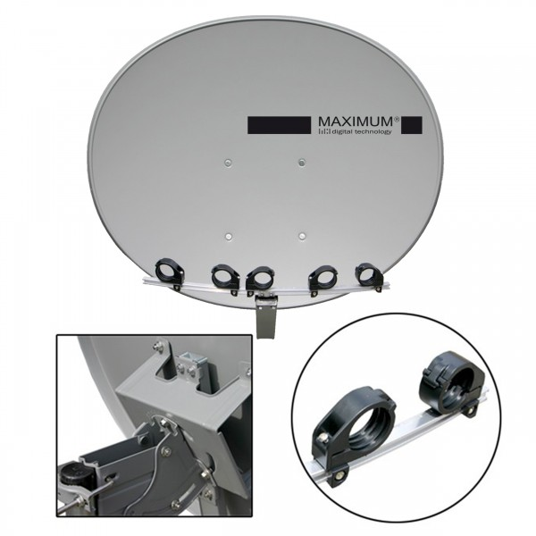 Maximum T85 / E85 Satellitenantenne Stahl Anthrazit