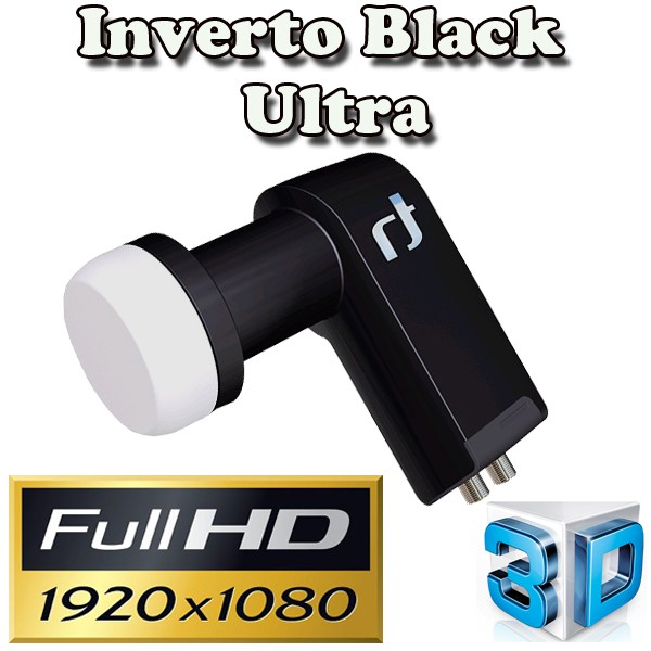 Inverto Black Ultra LNB Twin 0,2 dBHigh-Gain SAT LNB 72 dB FULLHD 3D HD+ Digital Tauglich