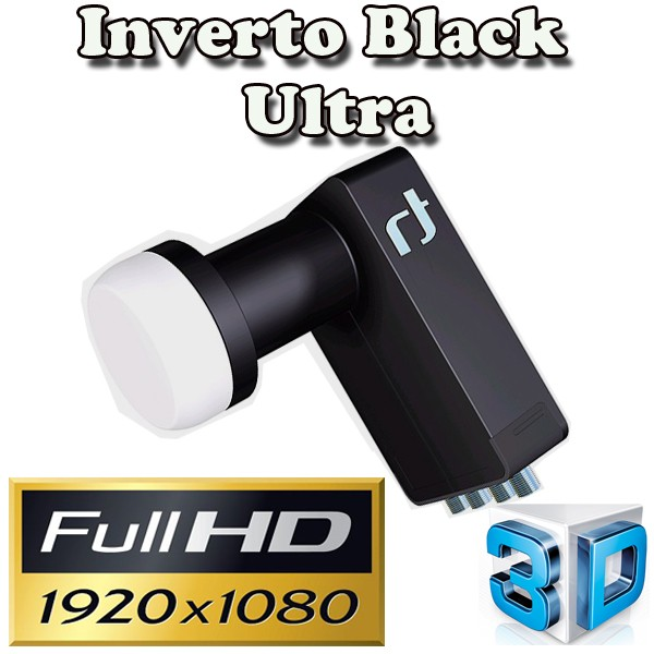 LNB Quad 0,2 dB Inverto Black Ultra High-Gain SAT LNB 72 dB FULLHD 3D HD+ Digital Tauglich