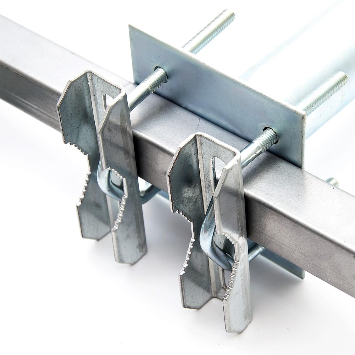PremiumX 45cm Balkonausleger Stahl Geländerhalter SAT Antenne Balkon-Mast-Halter Ausleger L-Form