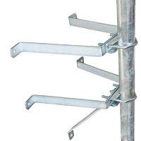 PremiumX Sat-Mauerhalter Wandabstandshalter Wandabstand 30cm für Mast bis Ø 60mm aus verzinktem Stahl – Bild 1