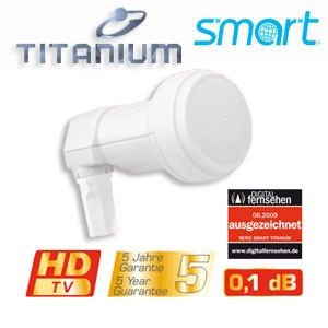 LNB Single Smart-Titanium Gold TS 0,1dB FULLHD HDTV 3D Digital tauglich