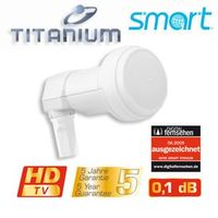 LNB Single Smart-Titanium Gold TS 0,1dB FULLHD HDTV 3D Digital tauglich  – Bild 2