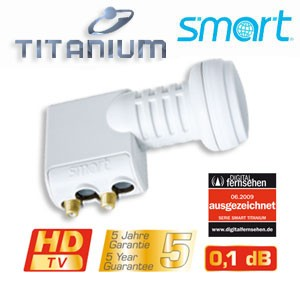 LNB Twin Smart-Titanium Gold TT 0,1dB HDTV FULLHD 3D