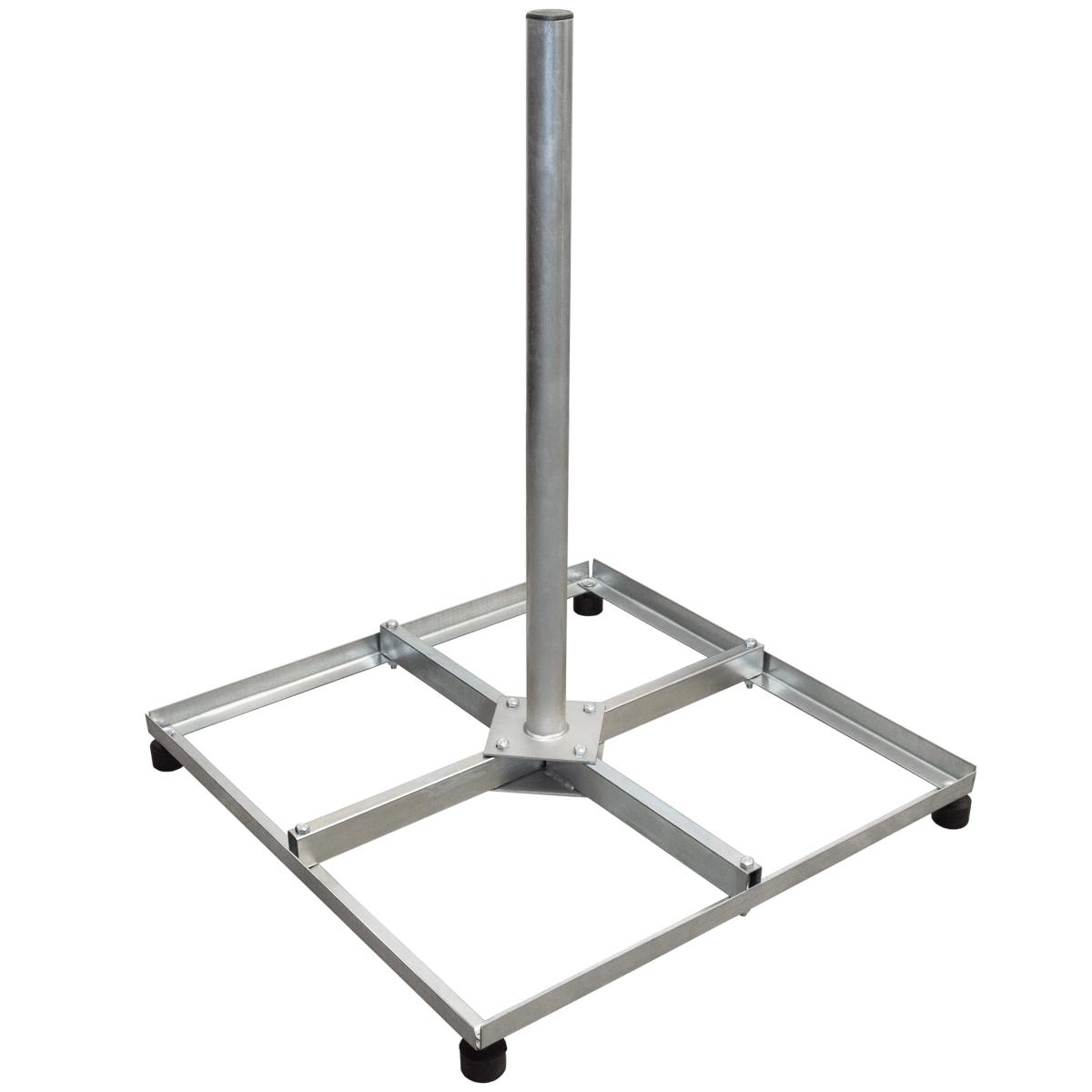 PremiumX Balkonständer Stahl 4 X 30 X 30 TWD Holland mit Mast / Sat Flachdachständer für Satellitenschüssel