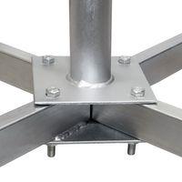 PremiumX Balkonständer Stahl 4 X 30 X 30 TWD Holland mit Mast / Sat Flachdachständer für Satellitenschüssel – Bild 3