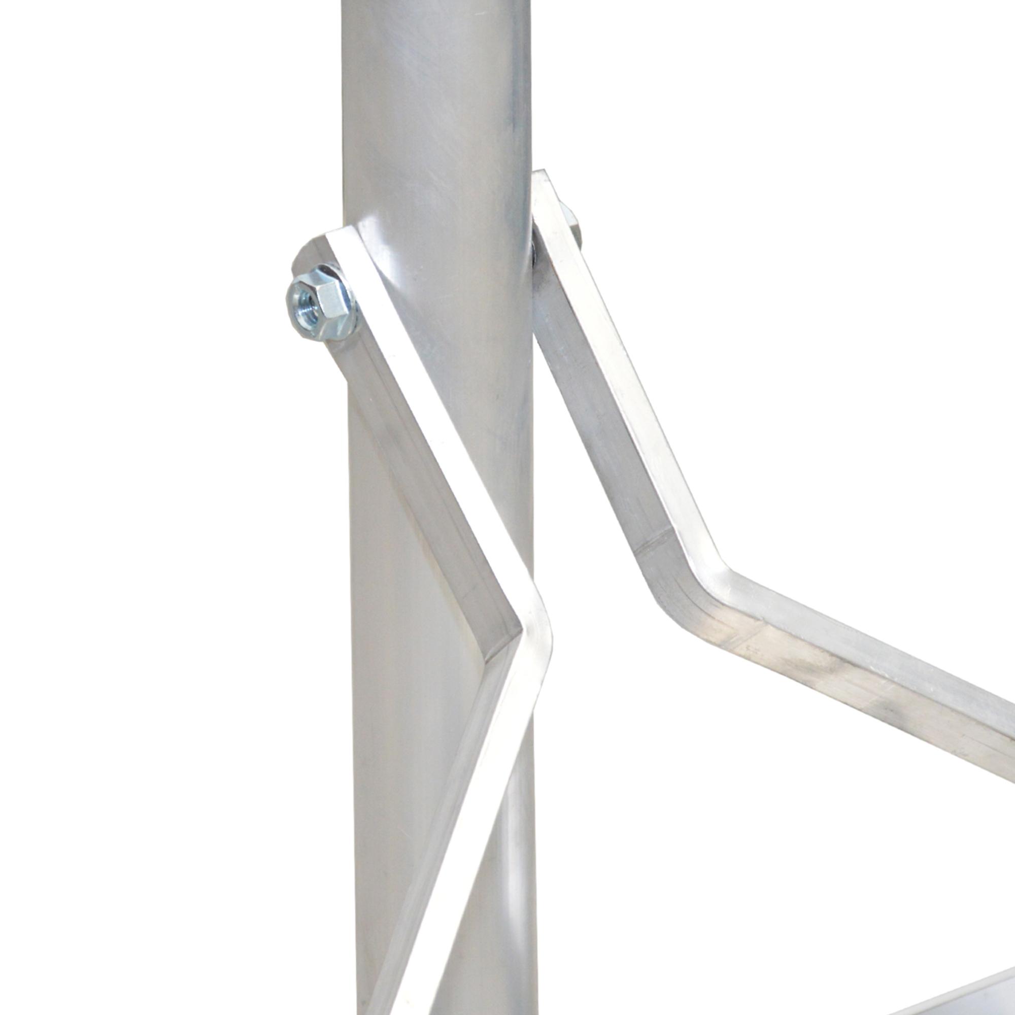 PremiumX Balkonständer ALU 40x40 1 Meter Mast Sat Montage Balkon Terrassen Ständer stabil