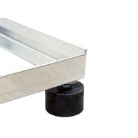 PremiumX Balkonständer ALU 40x40 1 Meter Mast Sat Montage Balkon Terrassen Ständer stabil – Bild 3