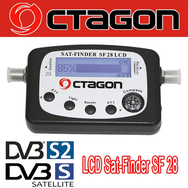 Sat-Finder Octagon SF 28 LCD High Quality SF28 Satfinder, inkl. Compass NEU