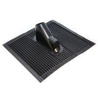 Dachabdeckung mit Kabeleinführung Alu-Dachziegel Schwarz Dach Montage Abdeckung Ziegel Dachpfanne für Sat Dachsparrenhalter – Bild 1