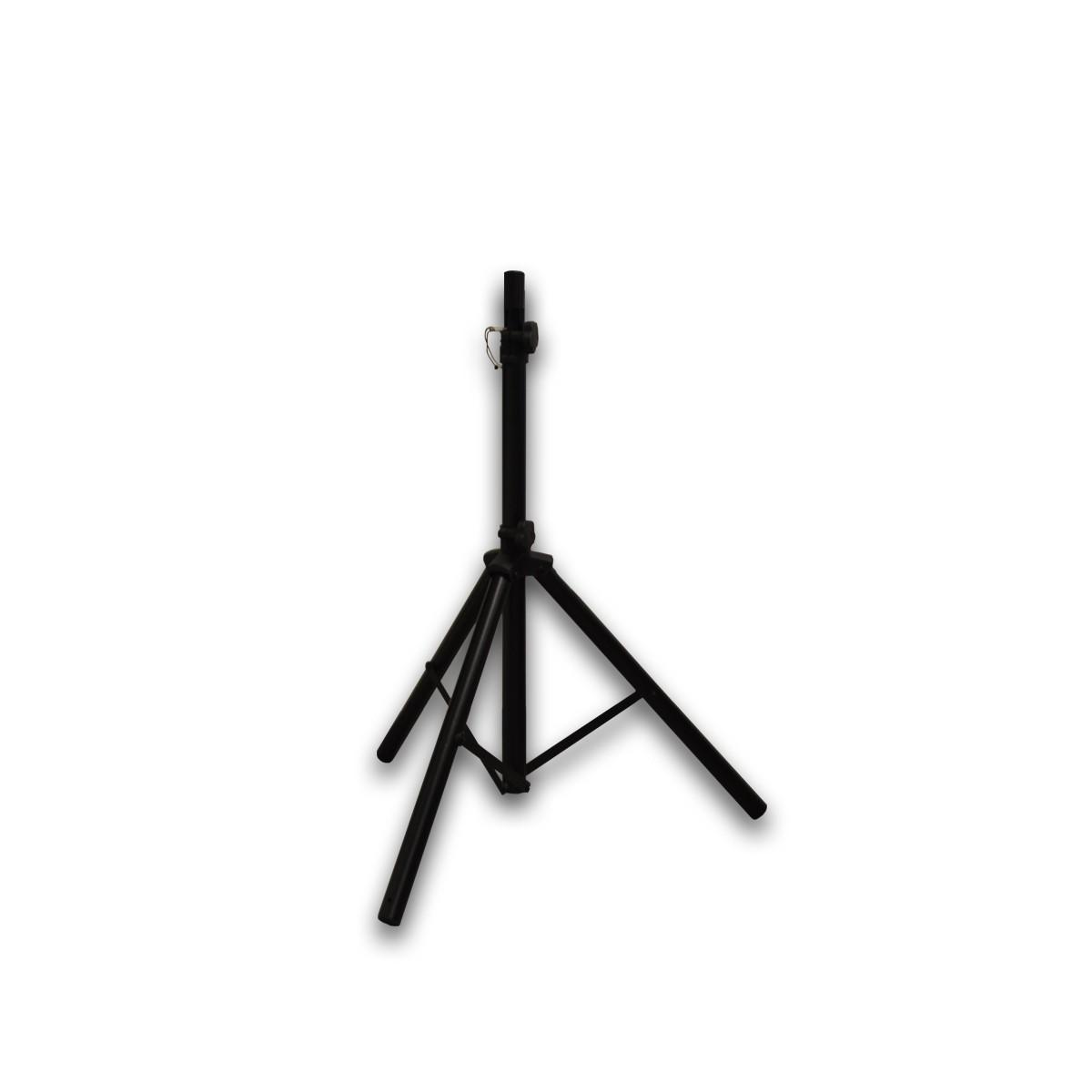PremiumX Dreibein-Stativ BASIC SCHWARZ ALU Ø 32mm 120cm Schwarz SAT Tripod Ständer für Satellitenschüssel bis 85cm Balkon Camping inkl. 3x massive Stahl-Heringe