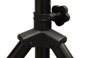 PremiumX Dreibein-Stativ BASIC SCHWARZ ALU Ø 32mm 120cm Schwarz SAT Tripod Ständer für Satellitenschüssel bis 85cm Balkon Camping inkl. 3x massive Stahl-Heringe – Bild 4