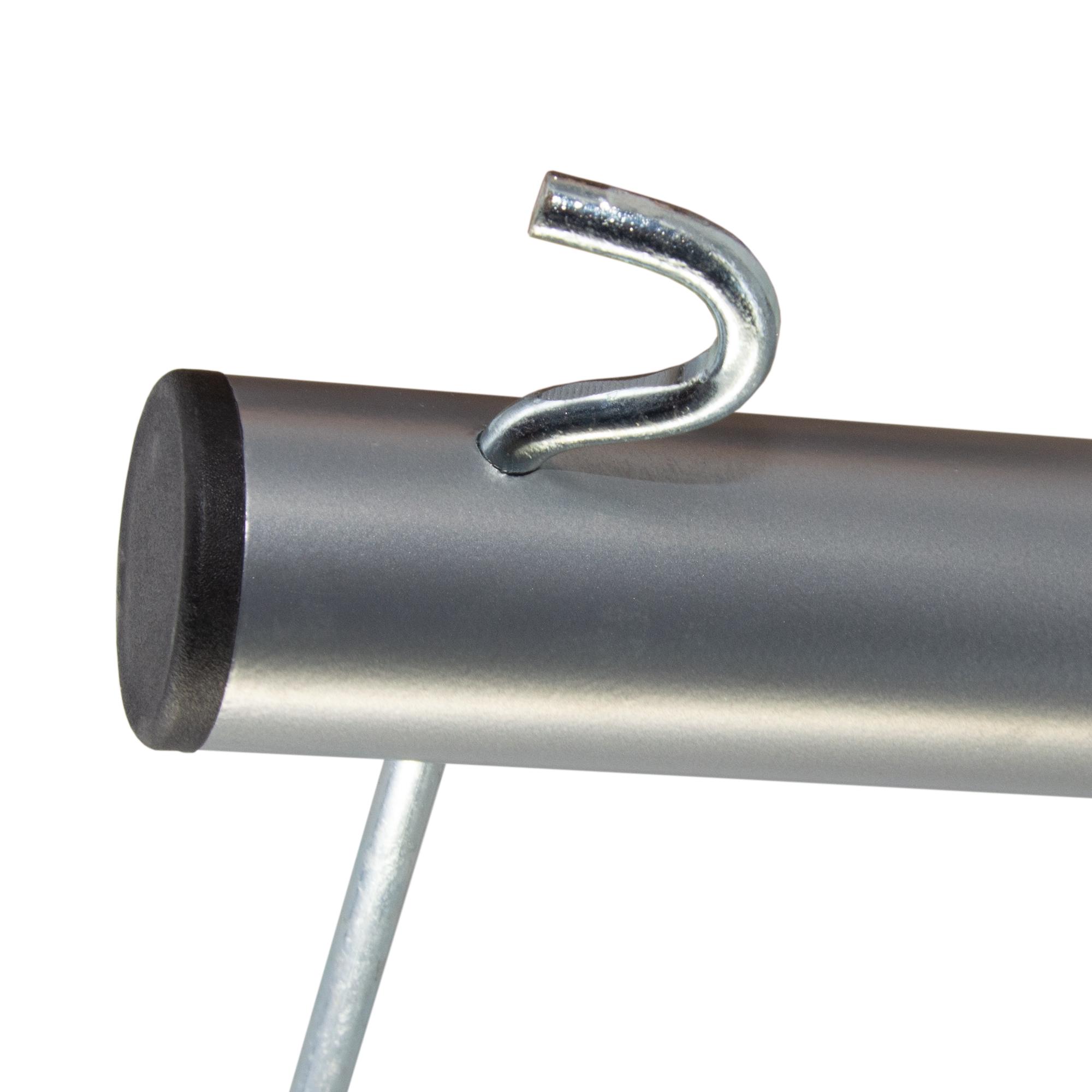 PremiumX Dreibein-Stativ BASIC SILVER Stahl Ø 32mm 120cm Silber SAT Tripod Ständer für Satellitenschüssel bis 85cm Balkon Camping inkl. 3x massive Stahl-Heringe
