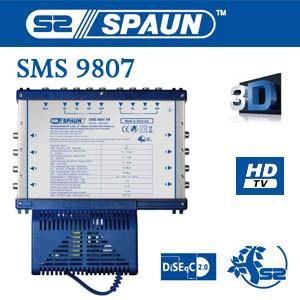 Multischalter Spaun SMS 9807 NF Multiswitch Made in Germany 9/8 9in8 NEU