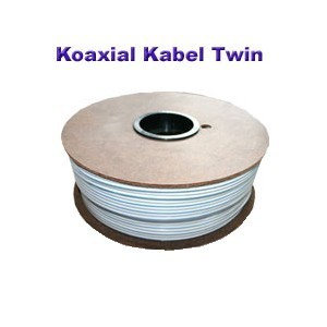 100m Koaxial Kabel Twin 2x 4 mm 80dB
