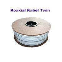 100m Koaxial Kabel Twin 2x 4 mm 80dB – Bild 2