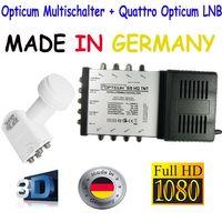 Opticum 5/8 Multischalter+Quattro Opticum LNB 0,1dB LRP-04H inkl. 24x 7,5mm F-Stecker NEU – Bild 2
