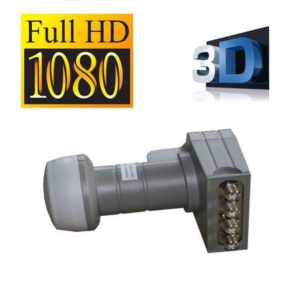 Fuba DEK 416 Quad LNB Quattro-Switch FuLLHD 3D zum Direktanschluss an Receiver 4 Teilenhmer