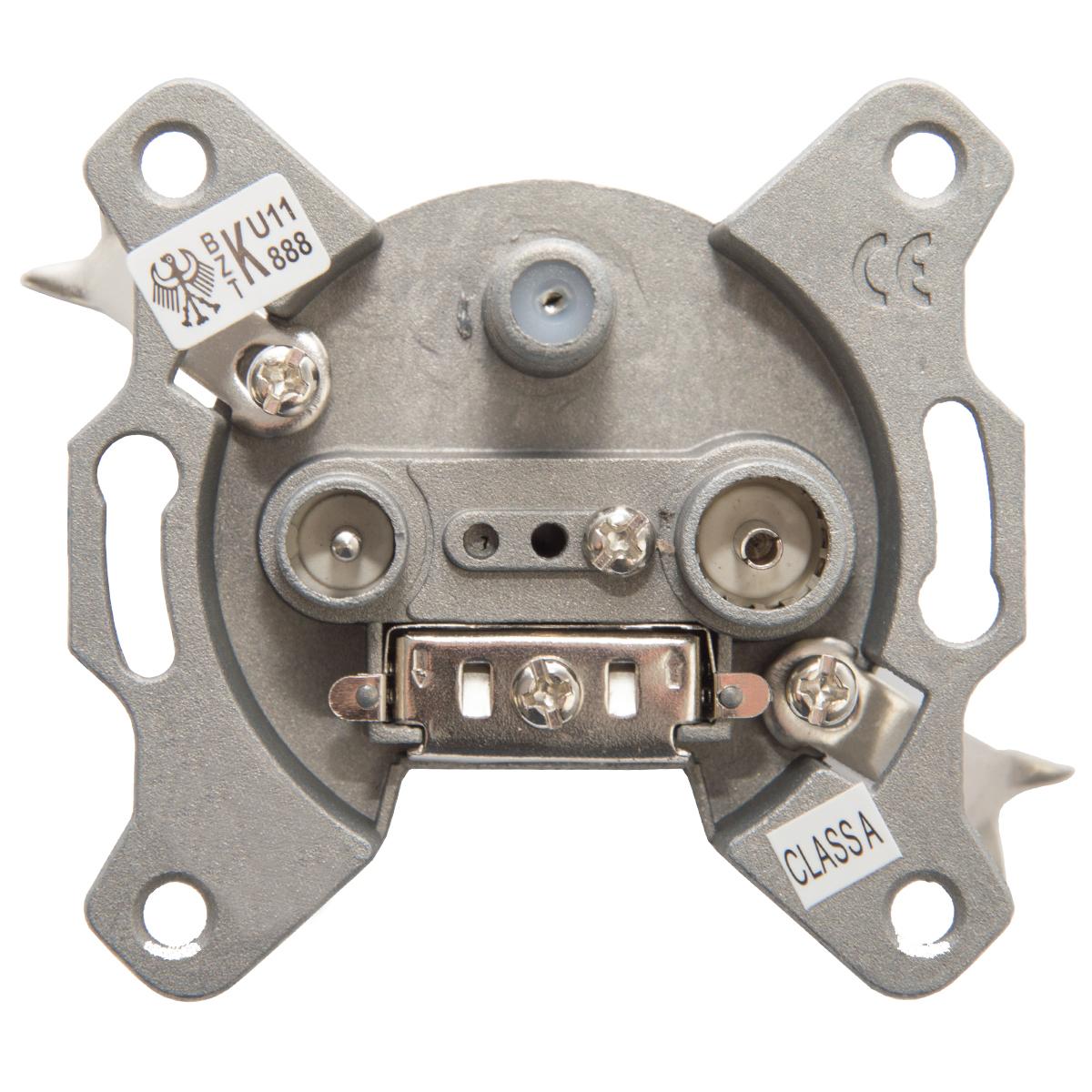 5x PremiumX PX3 Antennendose 3-Fach Enddose Antennen-Dose Aufputz Unterputz