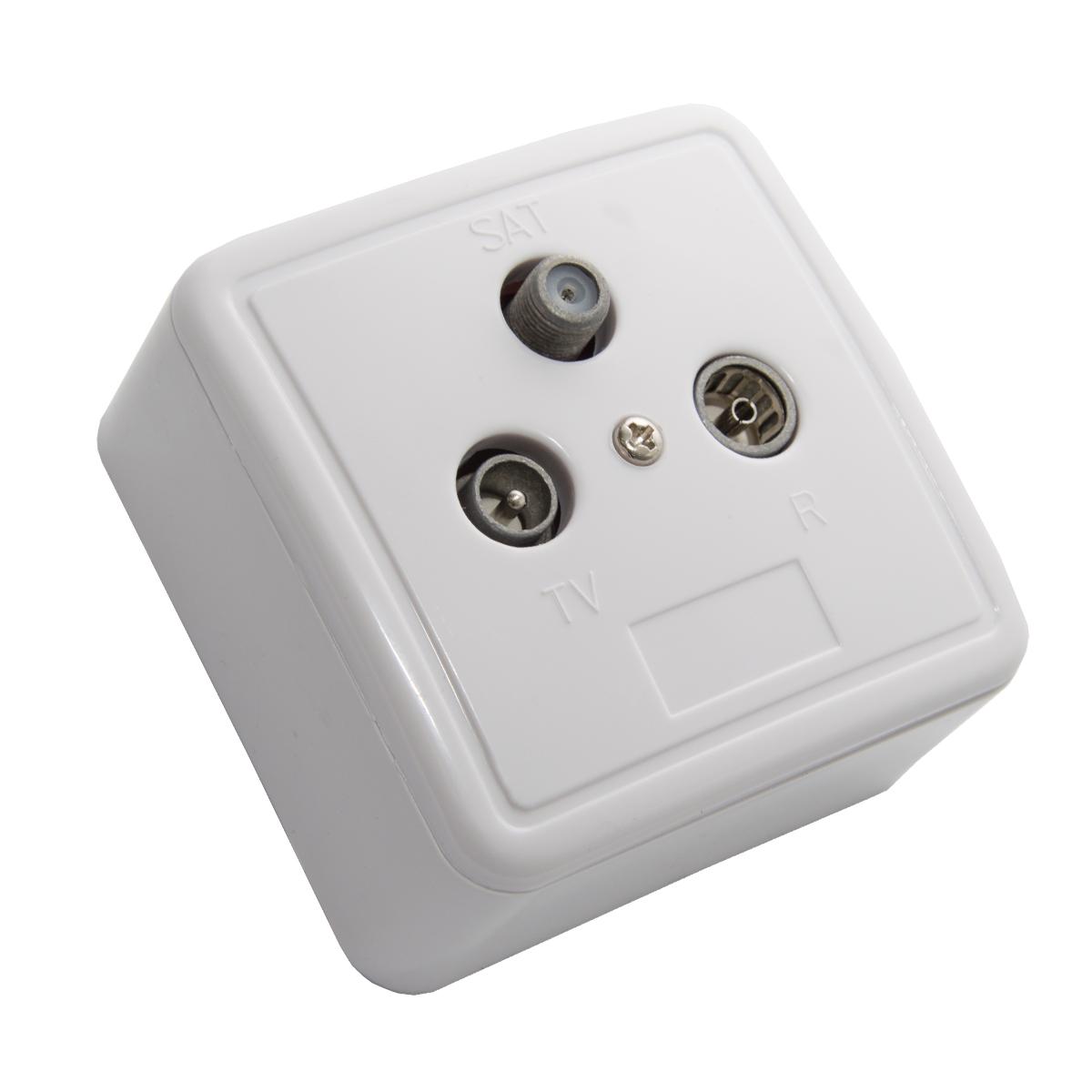 10x PremiumX PX3 Antennendose 3-Fach Enddose Antennen-Dose Aufputz Unterputz