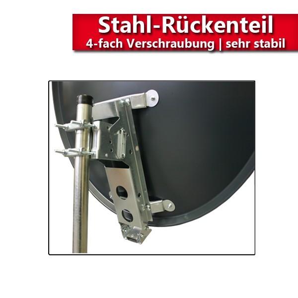 PremiumX XTS120 Satellitenantenne 120 cm Stahl Anthrazit