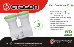 Octagon Monoblock Flex-Feed Green Single LNB 0.1dB HQ OFFLG flexibel HDTV FullHD 3D 4K – Bild 5