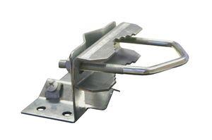PremiumX Mastfuss 20-60 mm für Antennenmast Sat Mast Mastfußschelle mit Zahnschelle