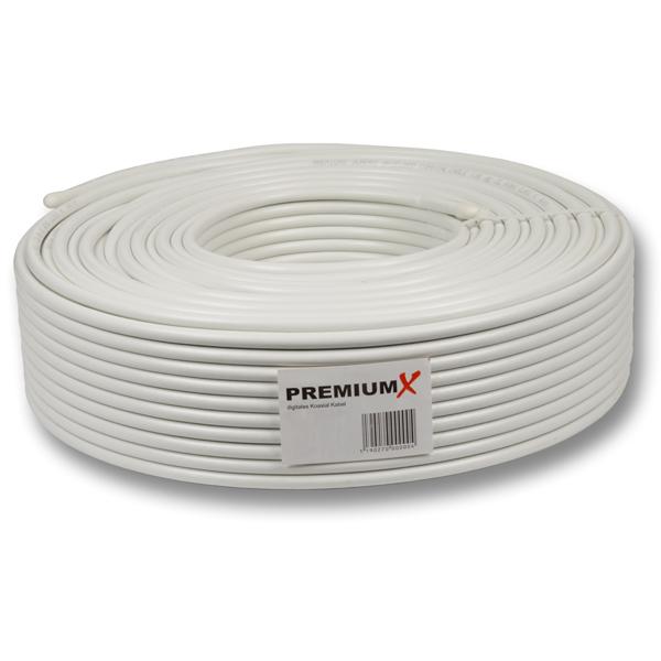 Sat Koaxial Kabel 130dB 5-fach geschirmt Kupfer-Stahl Innenleiter HDTV FULLHD 3D 25Meter
