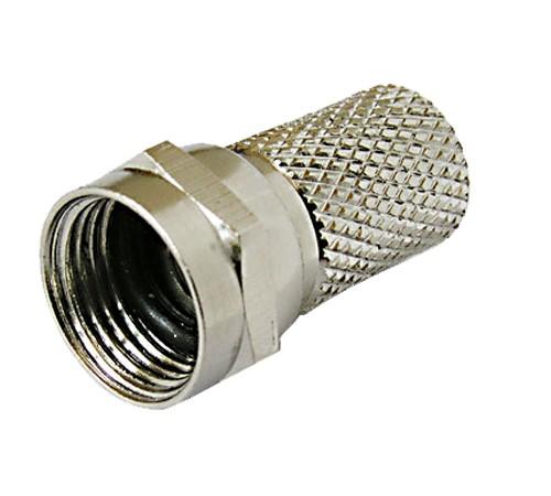 25 Stück F-Stecker Twist-On F-Stecker 5,8mm, Steckerlänge 18 mm