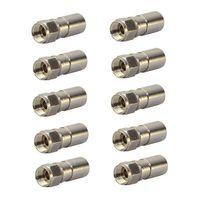 10x PremiumX Kompressionsstecker XCon S8 F-Kompressionsstecker 7 bis 7,5mm für SAT Kabel Koaxialkabel 120db 130db 135db