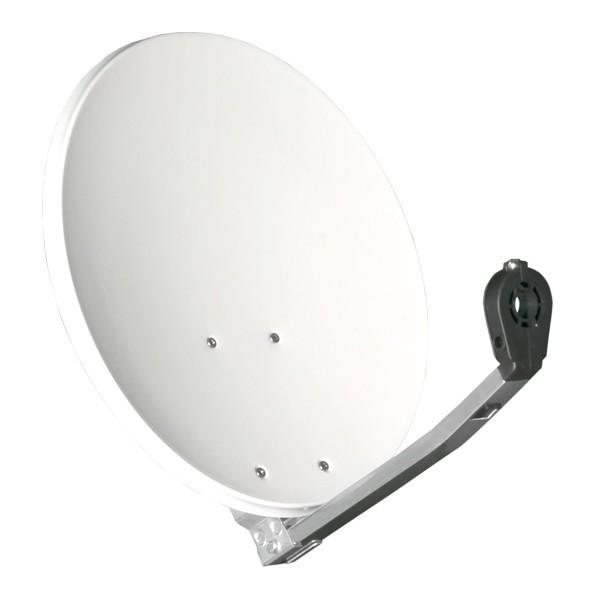 Gibertini 40cm HD Camping SAT Schüssel Antenne ALU mit Opticum Single LNB 0,1 dB 4K HDTV für 1 Teilnehmer