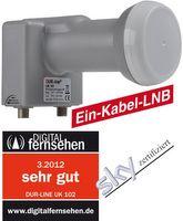 DUR-line Unikabel LNB UK 102 SCR Einkabel LNB Einkabellösung unicable NEU – Bild 2