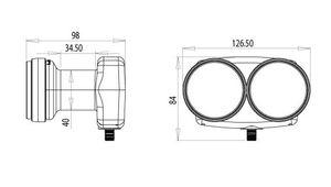 Single Monoblock Inverto Black Pro 40mm LNB, 6° IDLB-SINM40-MNOO6-8PP FULLHD 3D – Bild 3